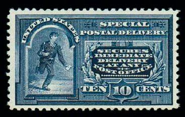 US Stamps Value Scott Catalog E5 - 10c 1895 Special Delivery. Matthew Bennett International, Dec 2007, Sale 324, Lot 1241