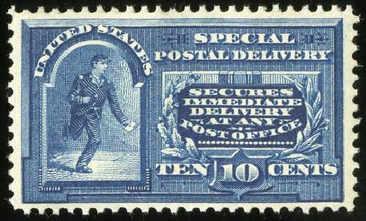 Cost of US Stamp Scott Catalogue # E5 - 10c 1895 Special Delivery. Spink Shreves Galleries, Jul 2015, Sale 151, Lot 371