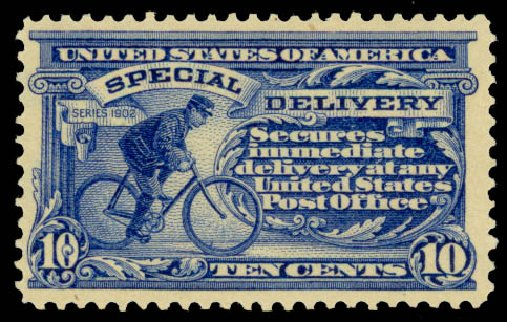 Price of US Stamp Scott E6 - 10c 1902 Special Delivery. Daniel Kelleher Auctions, Jan 2015, Sale 663, Lot 2097