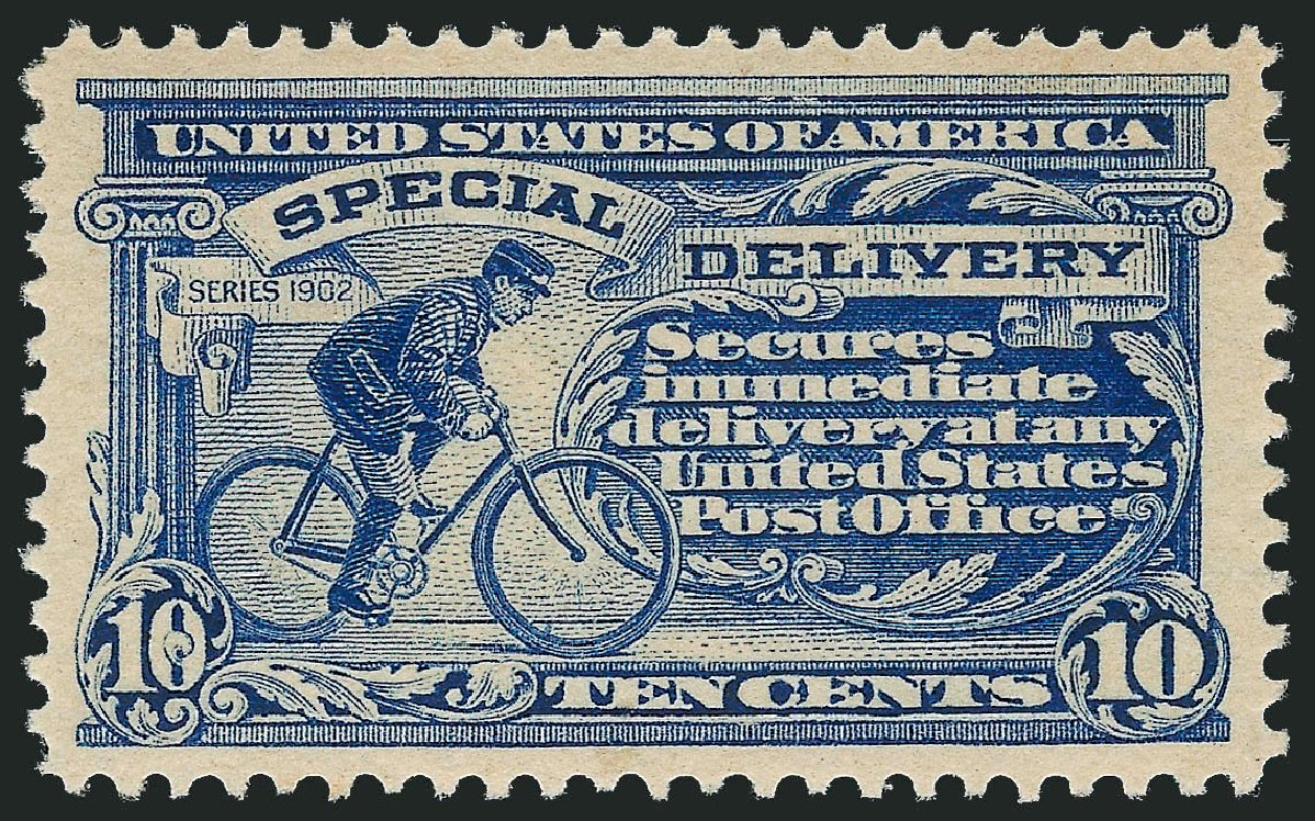 Prices of US Stamps Scott Catalogue # E6: 10c 1902 Special Delivery. Robert Siegel Auction Galleries, Mar 2015, Sale 1094, Lot 18