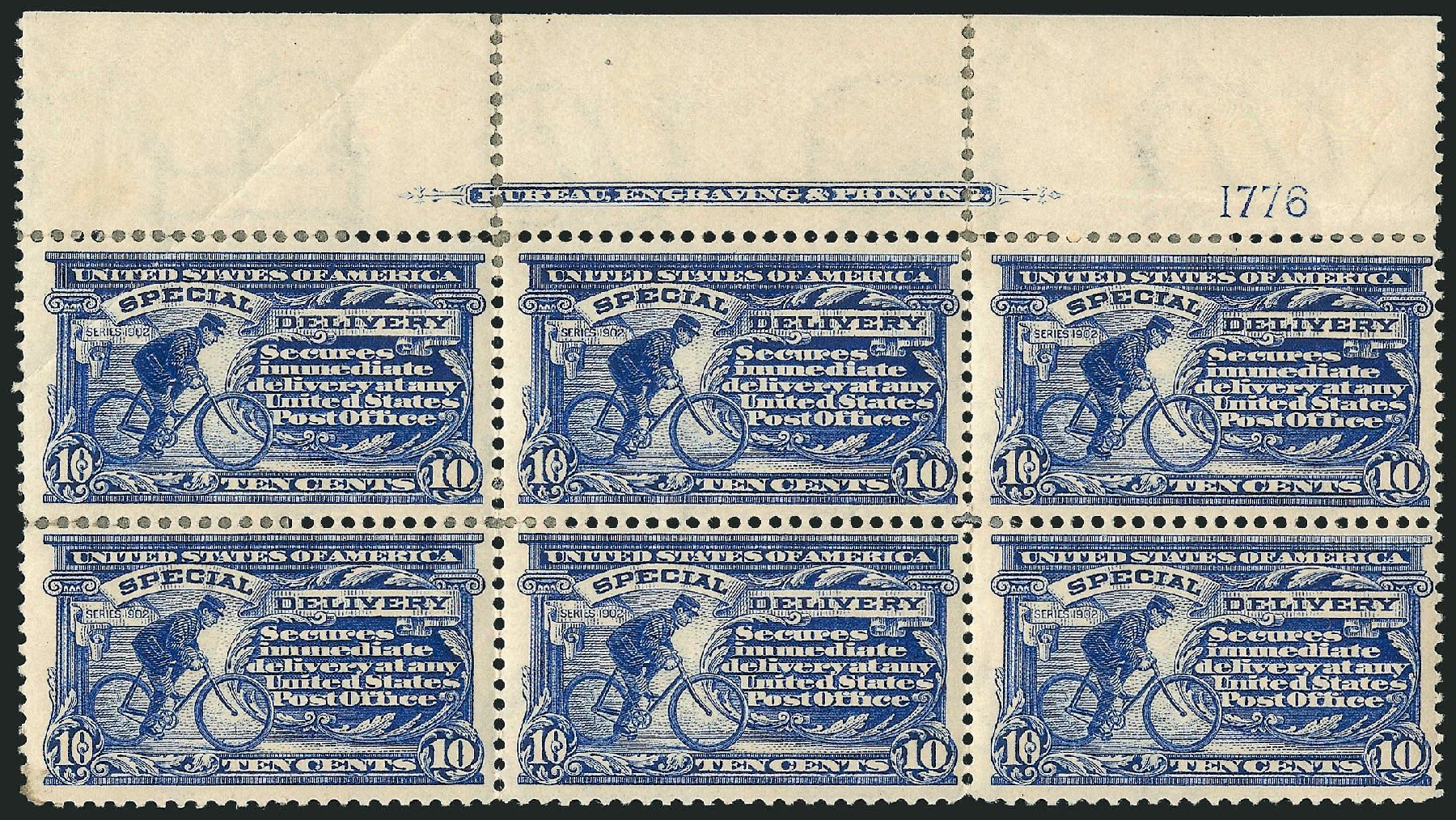 US Stamps Values Scott #E6: 10c 1902 Special Delivery. Robert Siegel Auction Galleries, Mar 2015, Sale 1094, Lot 19