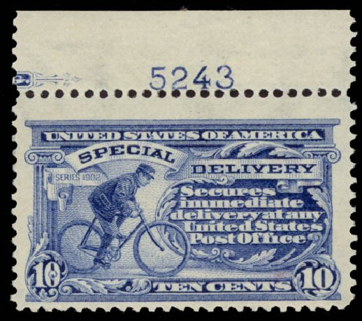 Values of US Stamps Scott Cat. #E6 - 10c 1902 Special Delivery. Daniel Kelleher Auctions, May 2015, Sale 669, Lot 3280