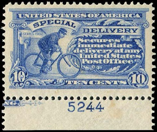 US Stamp Price Scott Cat. #E6 - 10c 1902 Special Delivery. Regency-Superior, Aug 2015, Sale 112, Lot 1060