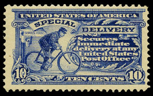 Costs of US Stamp Scott Catalog # E6 - 1902 10c Special Delivery. Daniel Kelleher Auctions, May 2015, Sale 669, Lot 3281
