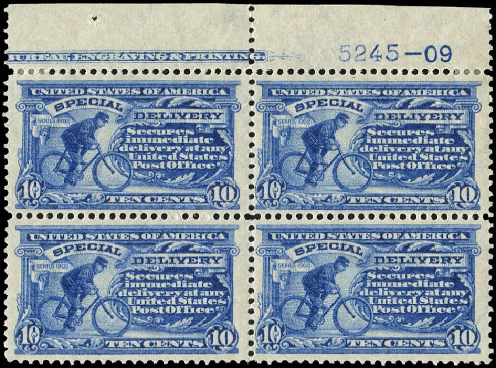 Value of US Stamps Scott E6 - 1902 10c Special Delivery. Regency-Superior, Jan 2015, Sale 109, Lot 1444