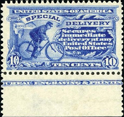 Value of US Stamps Scott Cat. #E6 - 1902 10c Special Delivery. Spink Shreves Galleries, Jan 2015, Sale 150, Lot 235