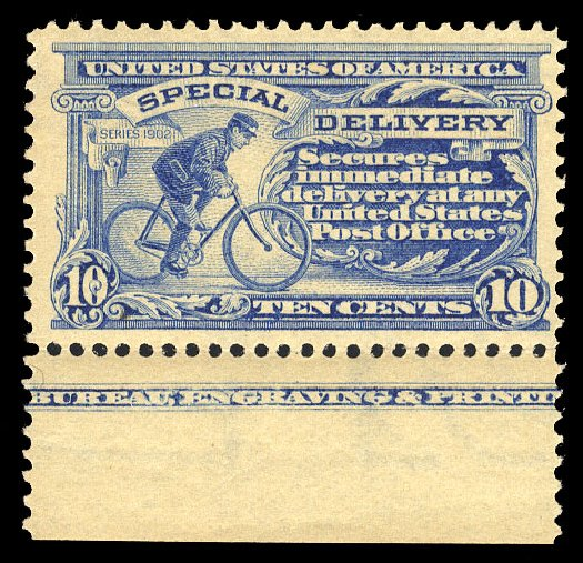 US Stamp Values Scott Catalogue E6 - 1902 10c Special Delivery. Cherrystone Auctions, Mar 2015, Sale 201503, Lot 86