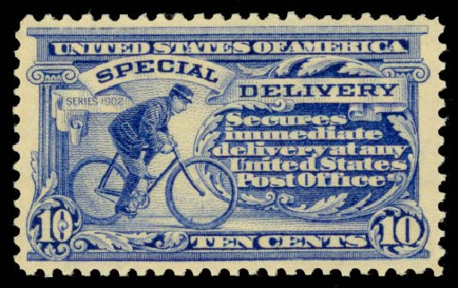 US Stamps Price Scott # E6 - 10c 1902 Special Delivery. Daniel Kelleher Auctions, Jan 2015, Sale 663, Lot 2096