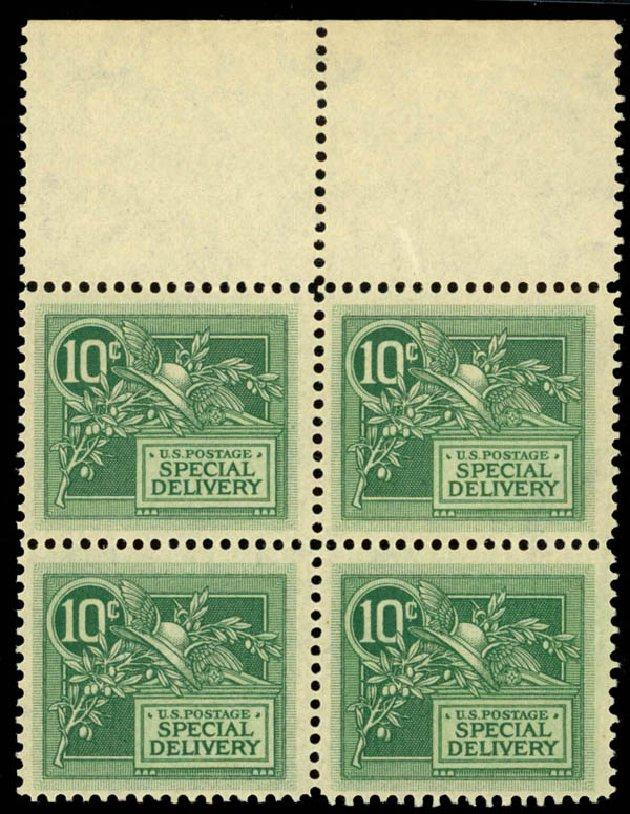 US Stamps Value Scott Catalog E7 - 1908 10c Special Delivery. Daniel Kelleher Auctions, Sep 2014, Sale 655, Lot 847