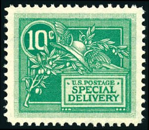 Prices of US Stamps Scott E7 - 1908 10c Special Delivery. Schuyler J. Rumsey Philatelic Auctions, Apr 2015, Sale 60, Lot 2487
