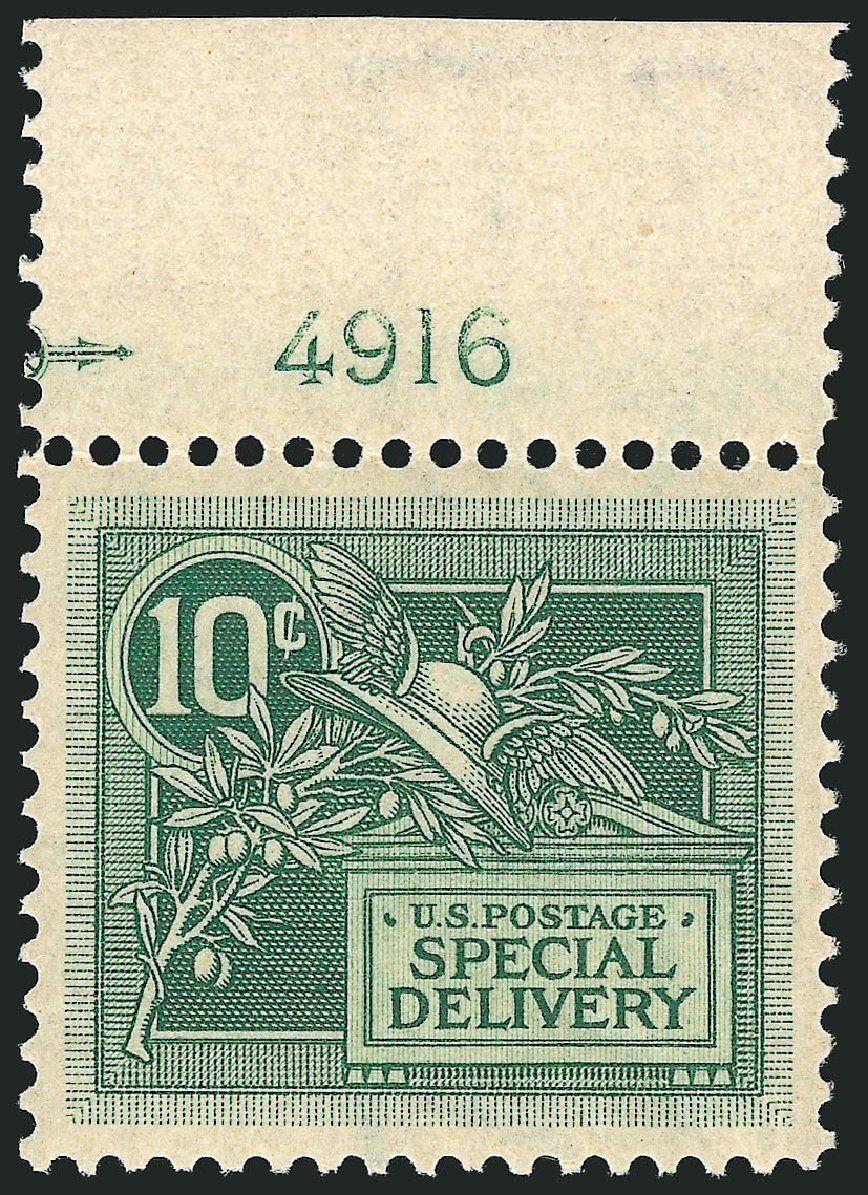 US Stamp Price Scott Catalogue E7 - 10c 1908 Special Delivery. Robert Siegel Auction Galleries, Sep 2014, Sale 1078, Lot 650