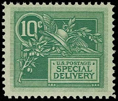 Prices of US Stamp Scott Catalog E7: 10c 1908 Special Delivery. H.R. Harmer, Jun 2015, Sale 3007, Lot 3464