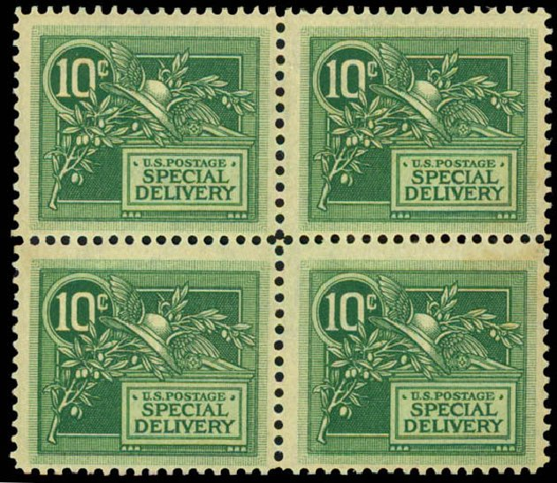 US Stamp Price Scott Catalog # E7: 10c 1908 Special Delivery. Daniel Kelleher Auctions, May 2015, Sale 669, Lot 3284