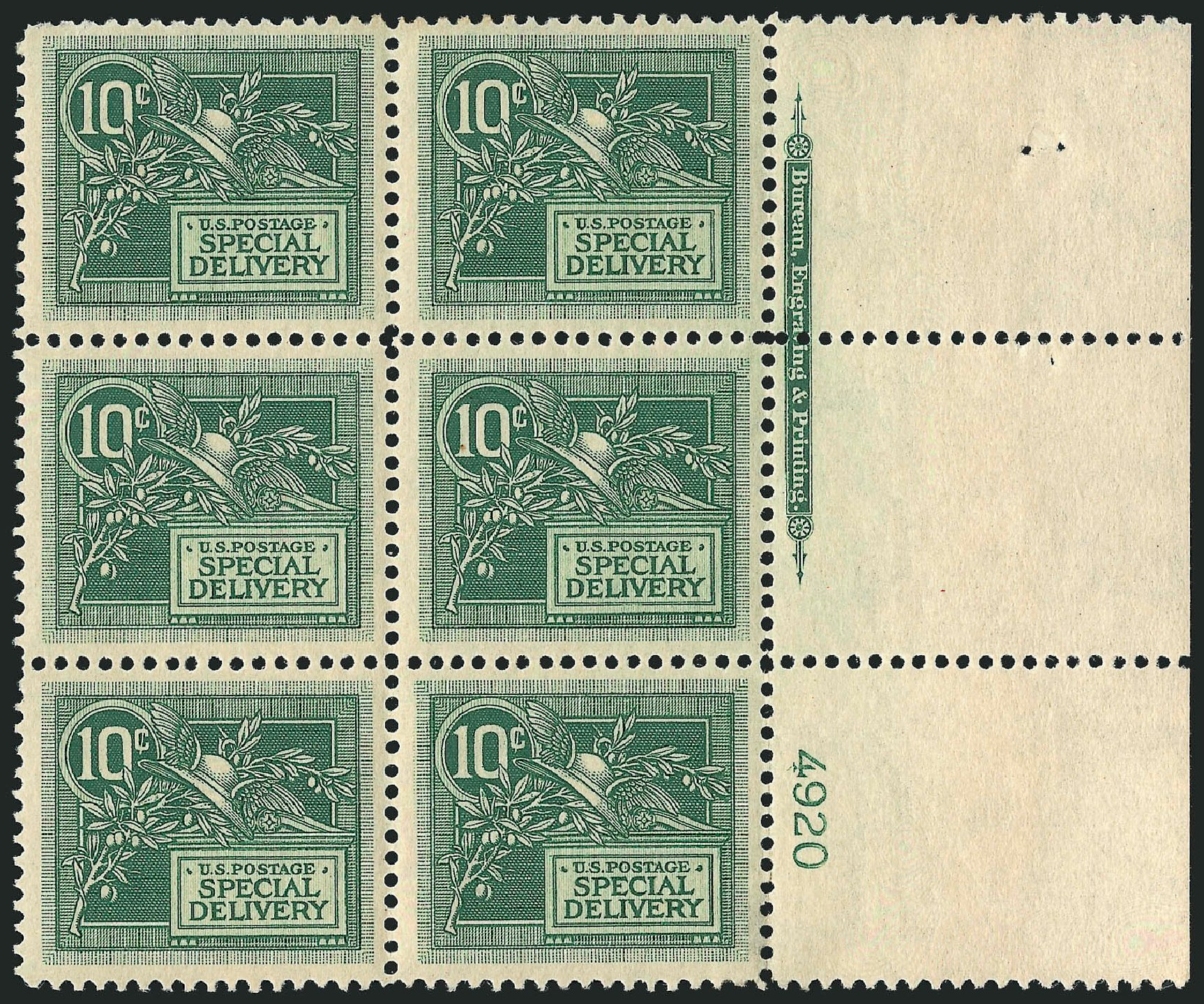 US Stamp Value Scott Catalog # E7 - 1908 10c Special Delivery. Robert Siegel Auction Galleries, Apr 2015, Sale 1096, Lot 834