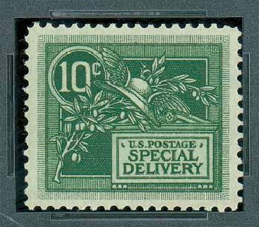 Costs of US Stamp Scott Catalog E7 - 1908 10c Special Delivery. Matthew Bennett International, Oct 2007, Sale 322, Lot 2292