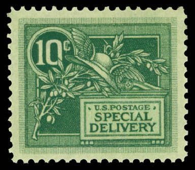 US Stamp Prices Scott Cat. #E7 - 10c 1908 Special Delivery. Daniel Kelleher Auctions, May 2014, Sale 652, Lot 852