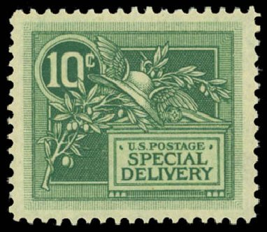 Price of US Stamps Scott Catalog #E7 - 1908 10c Special Delivery. Daniel Kelleher Auctions, May 2014, Sale 653, Lot 2323