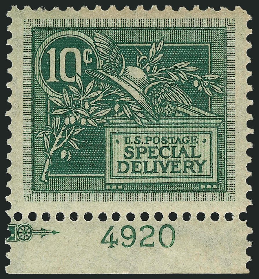 US Stamp Values Scott Catalog E7 - 1908 10c Special Delivery. Robert Siegel Auction Galleries, Mar 2014, Sale 1067, Lot 1676