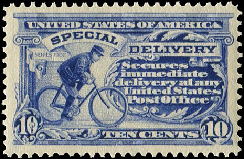 Value of US Stamps Scott Catalog E8 - 1911 10c Special Delivery. Regency-Superior, Jan 2015, Sale 109, Lot 1447