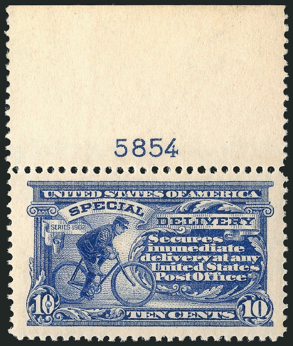 Values of US Stamp Scott #E8: 10c 1911 Special Delivery. Robert Siegel Auction Galleries, Mar 2014, Sale 1067, Lot 1677