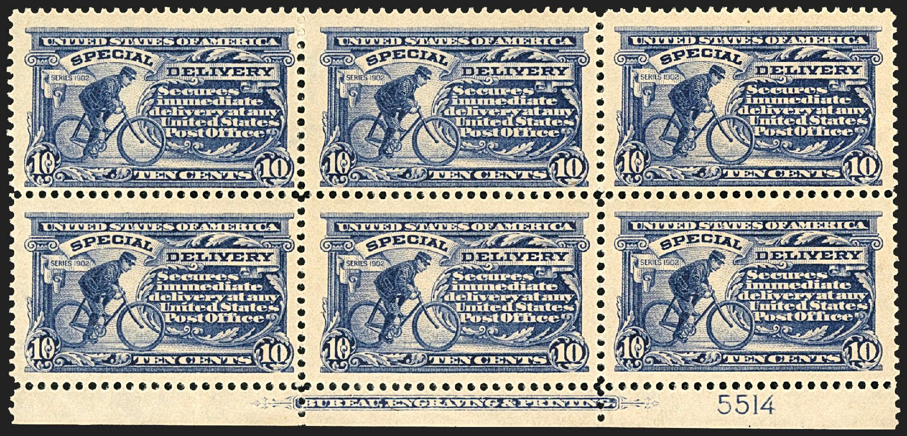 US Stamp Prices Scott Catalogue E8 - 1911 10c Special Delivery. Robert Siegel Auction Galleries, Jul 2015, Sale 1107, Lot 607