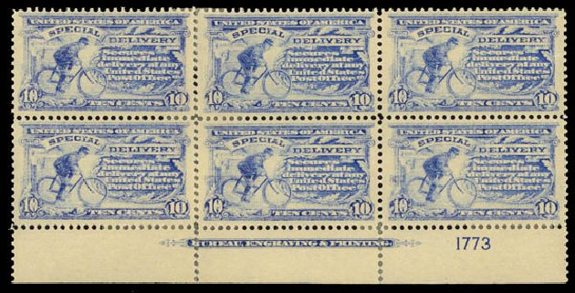 Costs of US Stamps Scott Catalog # E8: 10c 1911 Special Delivery. Daniel Kelleher Auctions, May 2014, Sale 652, Lot 858