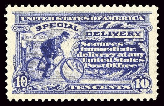 Costs of US Stamps Scott Cat. #E8 - 1911 10c Special Delivery. Spink Shreves Galleries, Jan 2014, Sale 146, Lot 510