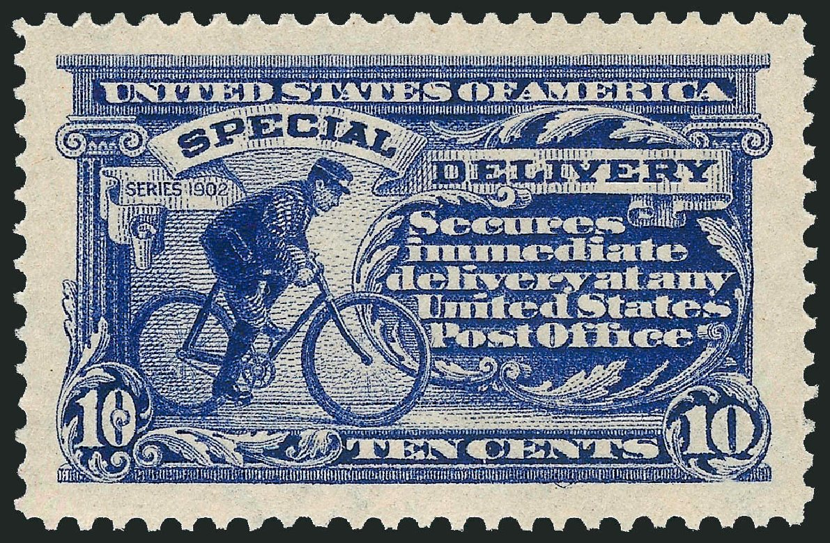 US Stamp Values Scott Catalogue # E8: 10c 1911 Special Delivery. Robert Siegel Auction Galleries, Dec 2014, Sale 1090, Lot 1624
