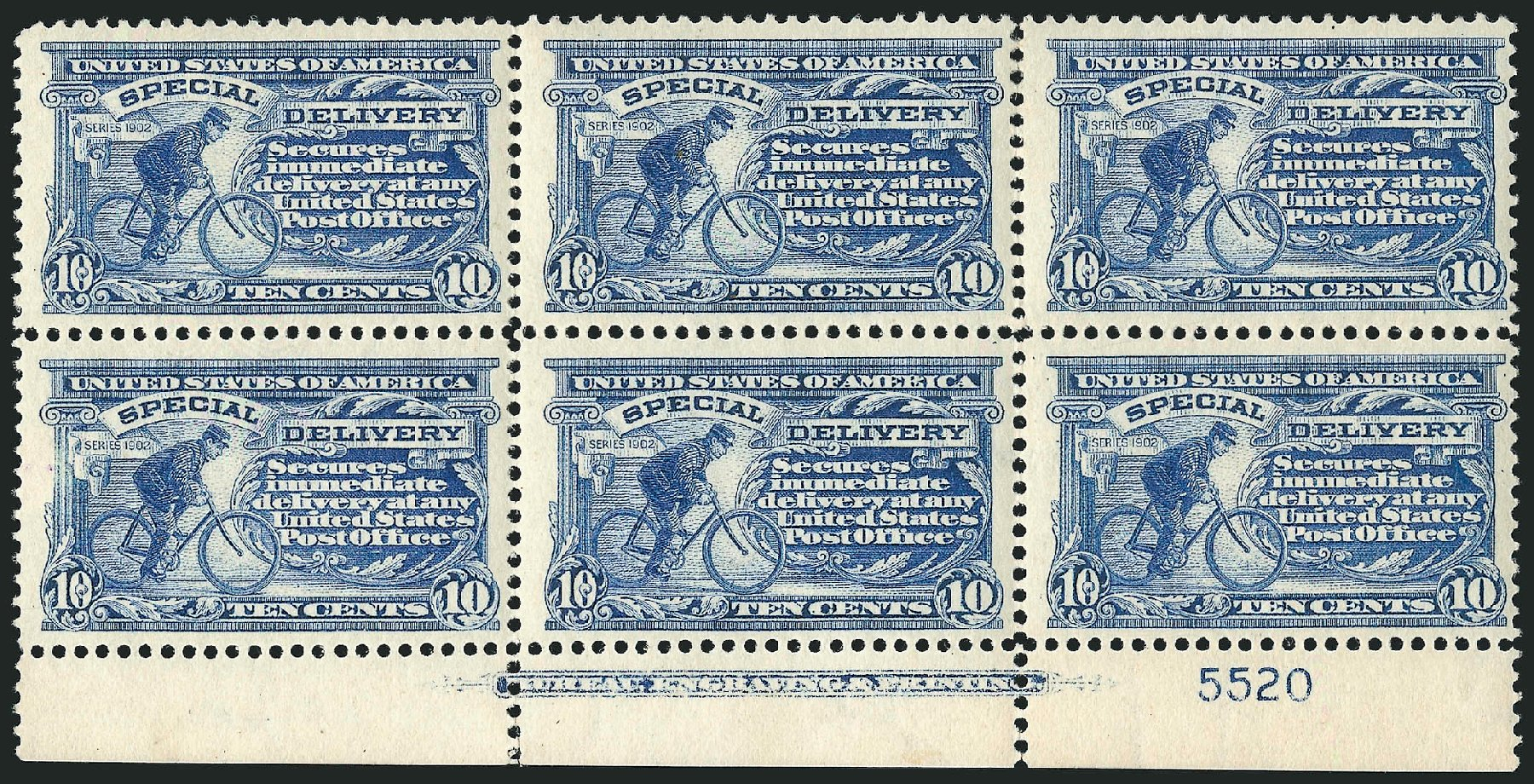 Costs of US Stamp Scott Catalog E8: 10c 1911 Special Delivery. Robert Siegel Auction Galleries, Apr 2015, Sale 1096, Lot 835