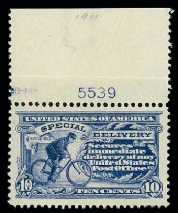 Prices of US Stamps Scott Catalog E8 - 1911 10c Special Delivery. Matthew Bennett International, Dec 2007, Sale 324, Lot 1243
