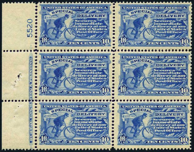 Cost of US Stamps Scott # E8 - 10c 1911 Special Delivery. Harmer-Schau Auction Galleries, Jan 2014, Sale 100, Lot 673