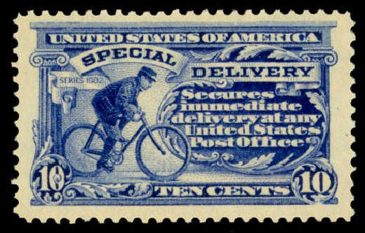 US Stamp Prices Scott E8 - 1911 10c Special Delivery. Daniel Kelleher Auctions, May 2014, Sale 652, Lot 853