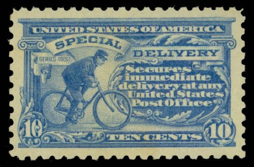 US Stamp Value Scott Catalogue E9: 10c 1914 Special Delivery. Daniel Kelleher Auctions, May 2015, Sale 669, Lot 3287