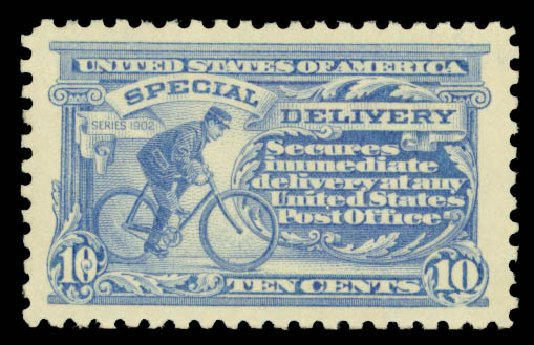 US Stamp Price Scott Catalogue #E9: 1914 10c Special Delivery. Daniel Kelleher Auctions, May 2015, Sale 669, Lot 3288