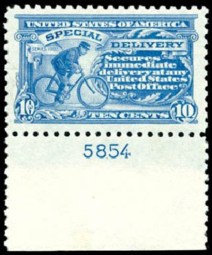 US Stamps Values Scott E9 - 1914 10c Special Delivery. Schuyler J. Rumsey Philatelic Auctions, Apr 2015, Sale 60, Lot 2868