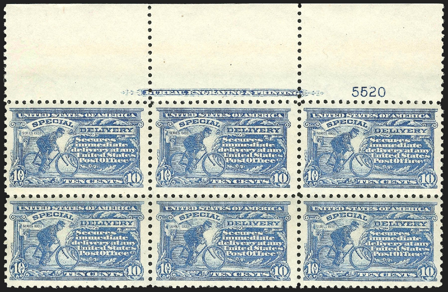US Stamp Value Scott Catalogue E9 - 10c 1914 Special Delivery. Robert Siegel Auction Galleries, Jul 2015, Sale 1107, Lot 608