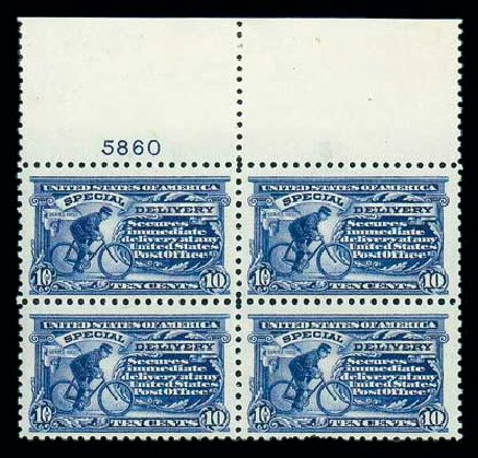 US Stamp Values Scott Cat. #E9: 10c 1914 Special Delivery. Matthew Bennett International, Jun 2007, Sale 319, Lot 1619