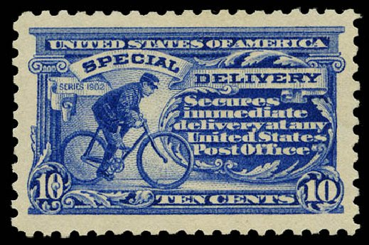 Price of US Stamps Scott Catalog #E9: 10c 1914 Special Delivery. Daniel Kelleher Auctions, May 2015, Sale 669, Lot 3289