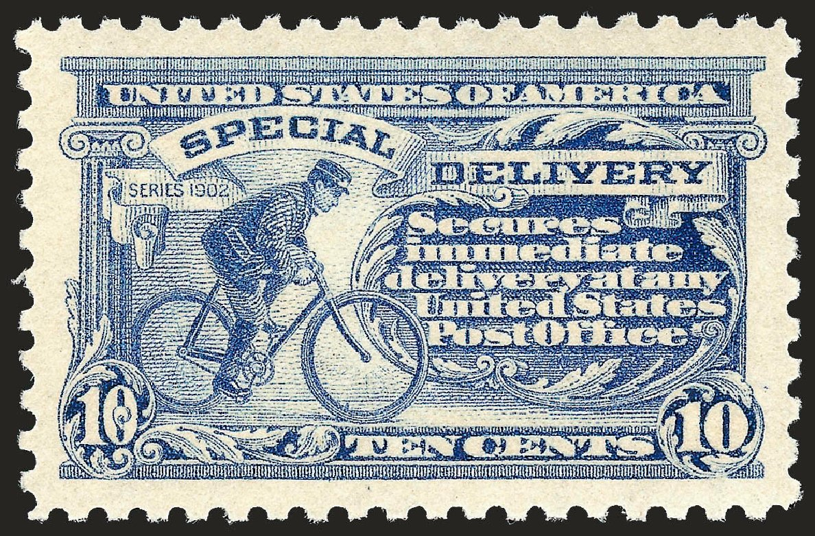 Cost of US Stamp Scott # E9 - 1914 10c Special Delivery. Robert Siegel Auction Galleries, Sep 2008, Sale 962, Lot 2980