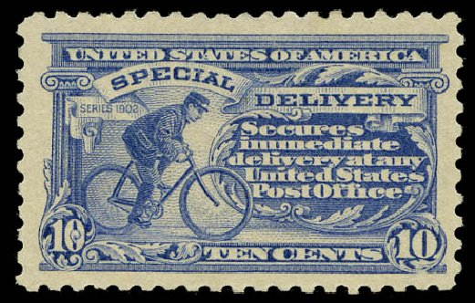 Values of US Stamps Scott Catalog # E9 - 10c 1914 Special Delivery. Daniel Kelleher Auctions, May 2015, Sale 669, Lot 3291