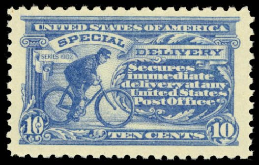 US Stamps Values Scott #E9 - 1914 10c Special Delivery. Daniel Kelleher Auctions, Aug 2015, Sale 672, Lot 2914