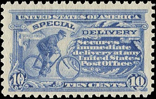 US Stamp Prices Scott Catalog E9: 1914 10c Special Delivery. Regency-Superior, Aug 2015, Sale 112, Lot 1065