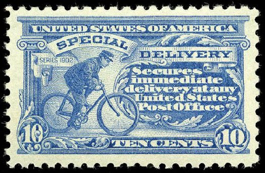 US Stamp Prices Scott Catalog # E9: 10c 1914 Special Delivery. Matthew Bennett International, Apr 2008, Sale 326, Lot 602