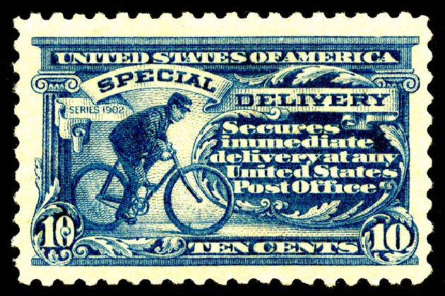 US Stamps Price Scott Cat. E9: 10c 1914 Special Delivery. Matthew Bennett International, Jun 2008, Sale 328, Lot 1143
