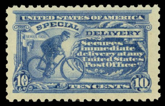 Values of US Stamps Scott Cat. #E9 - 1914 10c Special Delivery. Daniel Kelleher Auctions, May 2015, Sale 669, Lot 3286