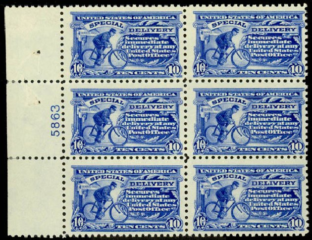 US Stamp Prices Scott Catalog # E9 - 10c 1914 Special Delivery. Daniel Kelleher Auctions, Aug 2015, Sale 672, Lot 2916