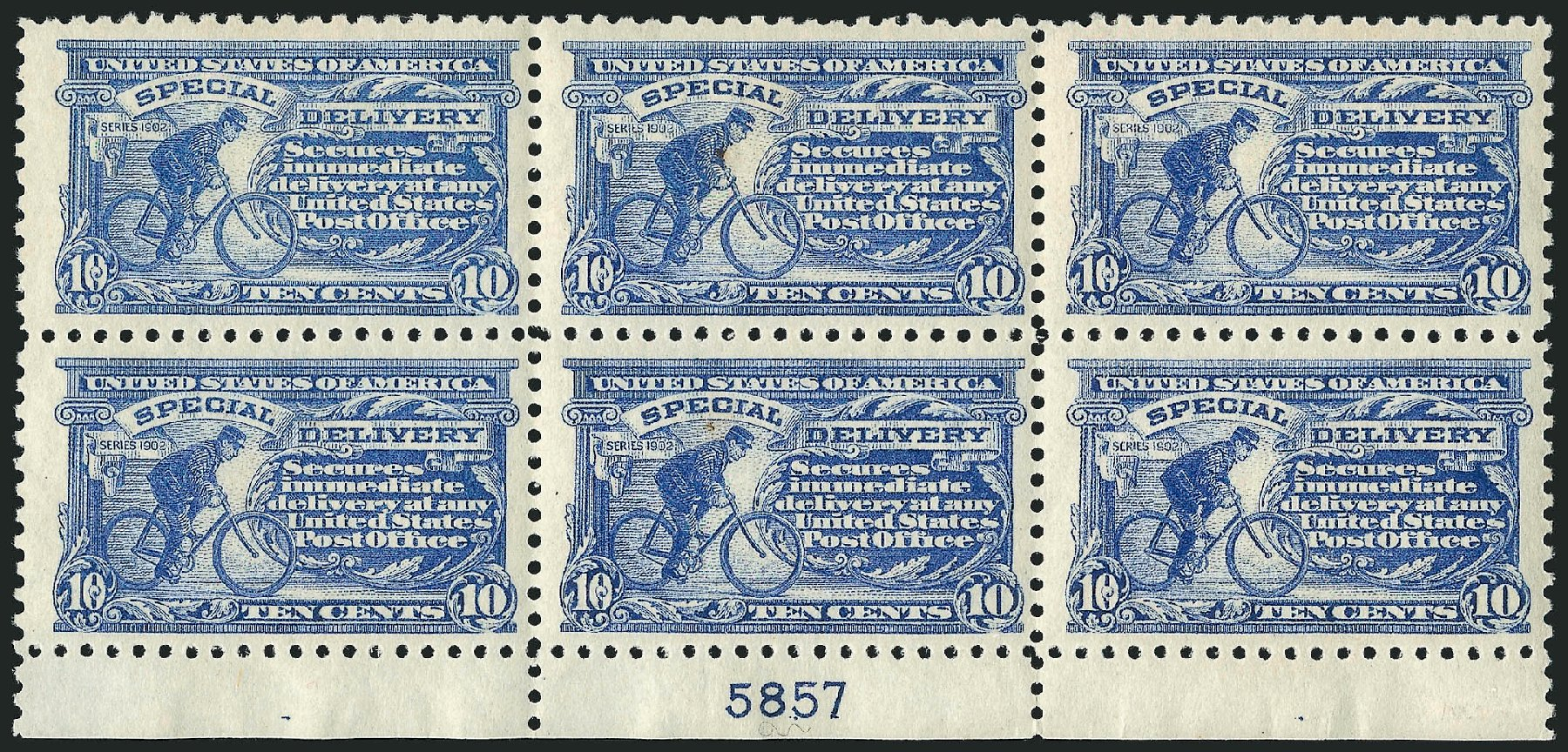 US Stamp Value Scott Catalog # E9: 1914 10c Special Delivery. Robert Siegel Auction Galleries, Apr 2015, Sale 1096, Lot 836
