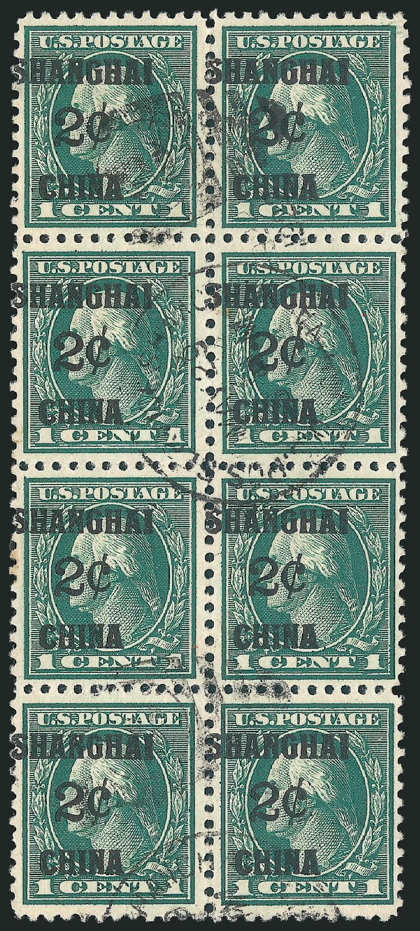 Price of US Stamps Scott Catalogue # K1 - 1919 2c China Shanghai on 1c. Robert Siegel Auction Galleries, Mar 2015, Sale 1094, Lot 121