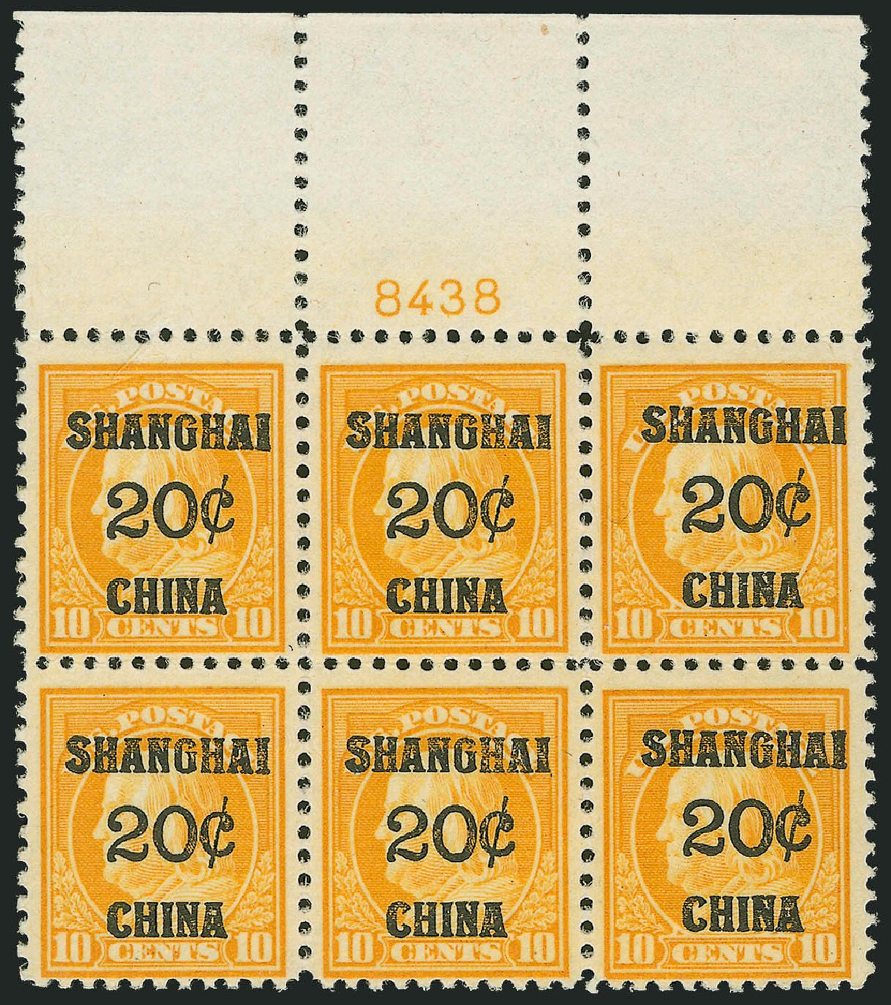Value of US Stamps Scott #K10 - 1919 20c China Shanghai on 10c. Robert Siegel Auction Galleries, Oct 2011, Sale 1014, Lot 2331