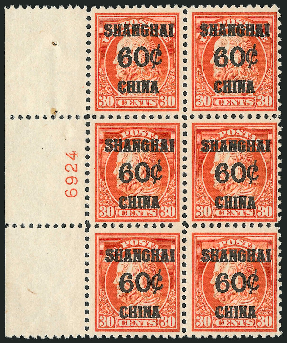 Costs of US Stamps Scott # K14 - 60c 1919 China Shanghai on 30c. Robert Siegel Auction Galleries, Oct 2010, Sale 997, Lot 6249